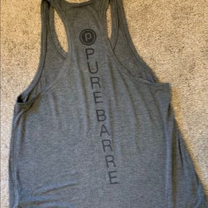 Pure Barre tank (Front is grey/writing on back)